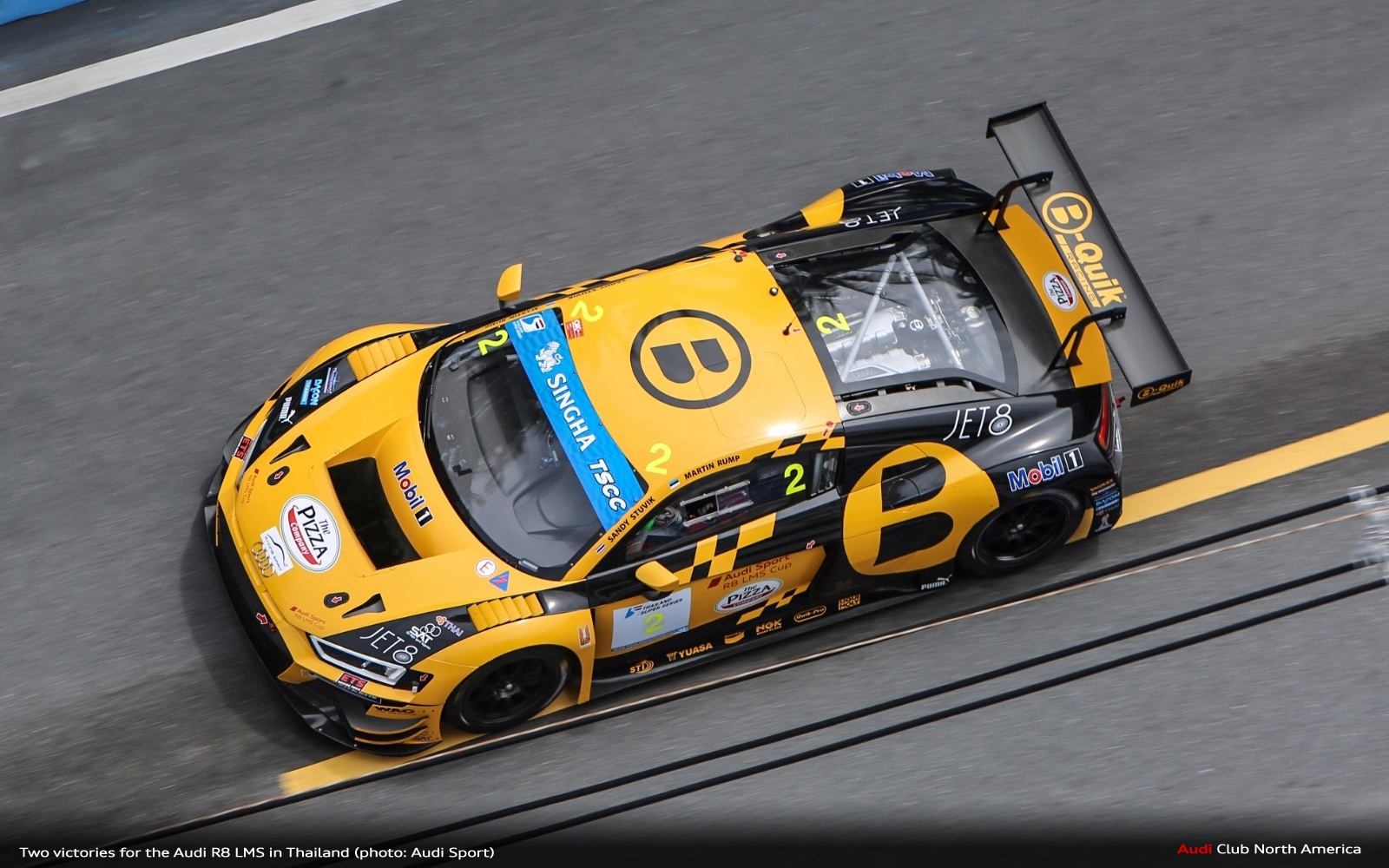 Two Victories for the Audi R8 LMS in Thailand
