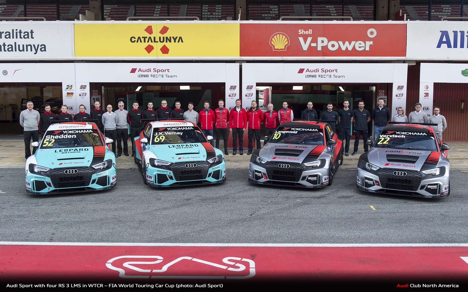 Audi Sport With Four RS 3 LMS in WTCR – FIA World Touring Car Cup