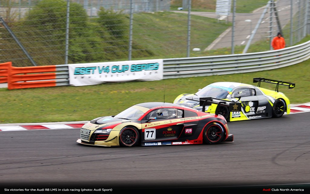 Six Victories for the Audi R8 LMS in Club Racing