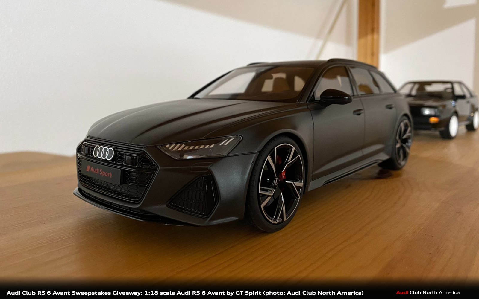 Audi Club RS 6 Avant Sweepstakes Giveaway: 1:18 scale Audi RS 6 Avant by GT Spirit