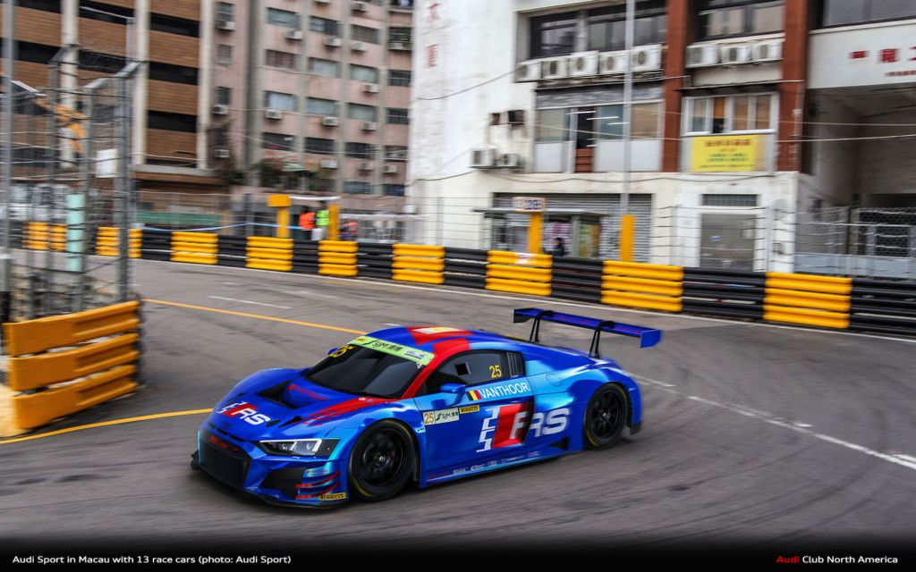 Audi Sport In Macau With 13 Race Cars