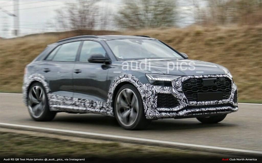 Audi RS Q8 Test Mule Spied.