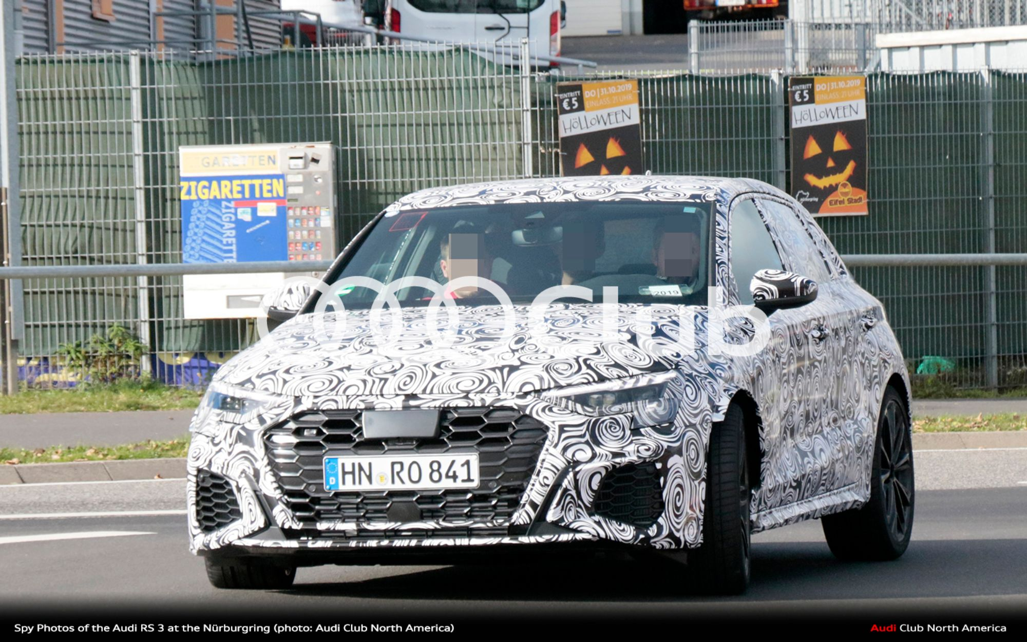 Spy Photos of the Audi RS 3 at the Nürburgring