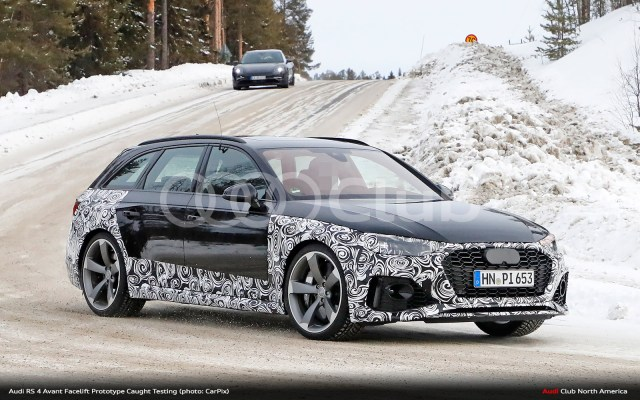 B95 Audi Rs 4 Avant Spied Cold Weather Testing Audi Club North