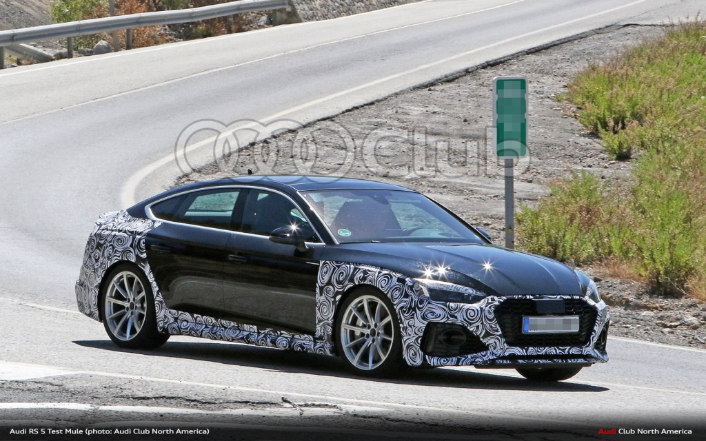 Audi RS 5 Sportback Facelift Spied