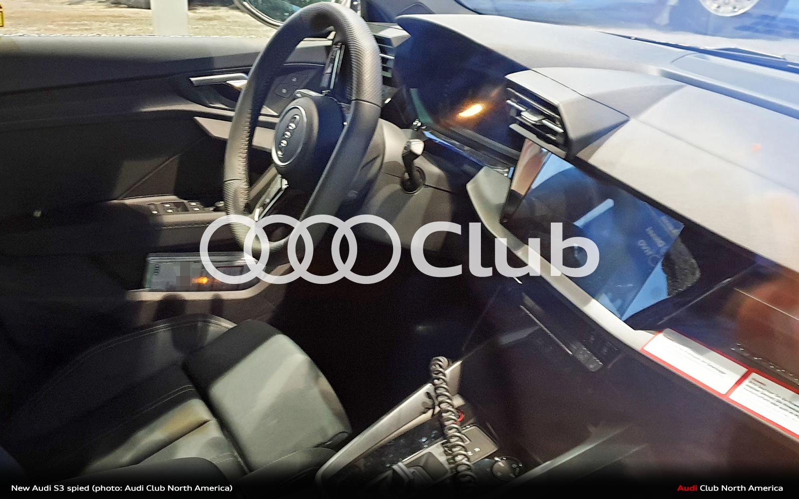 New Audi S3 Interior Spied - Audi Club North America