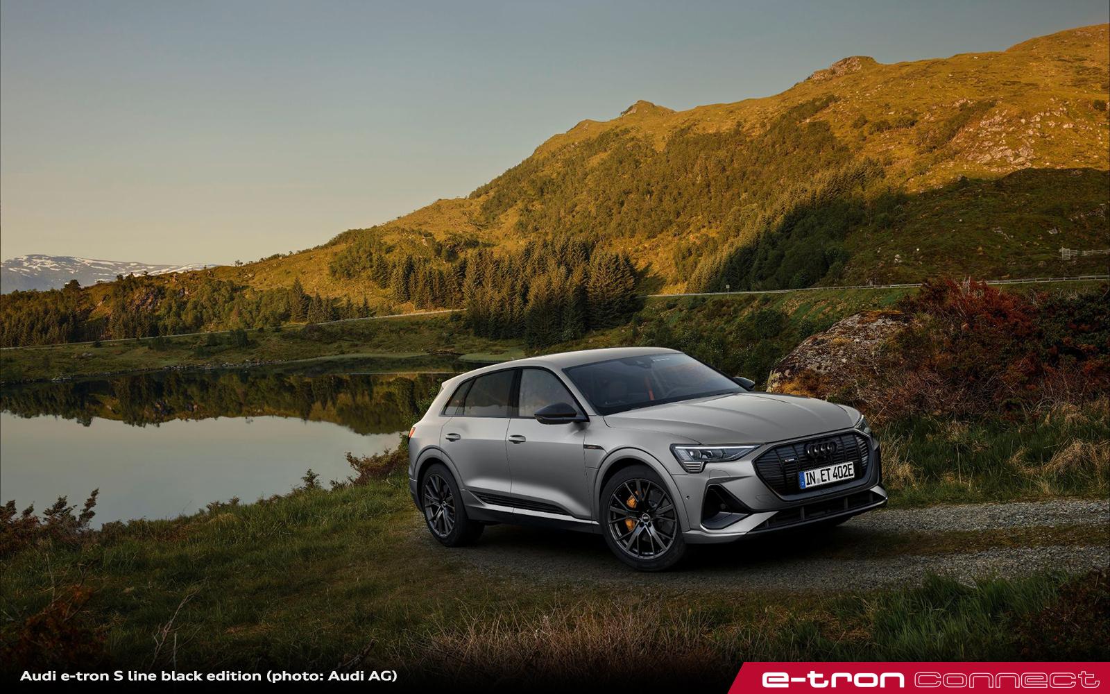 Progressive and Sporty Into the New Model Year: The Audi e-tron S line black edition
