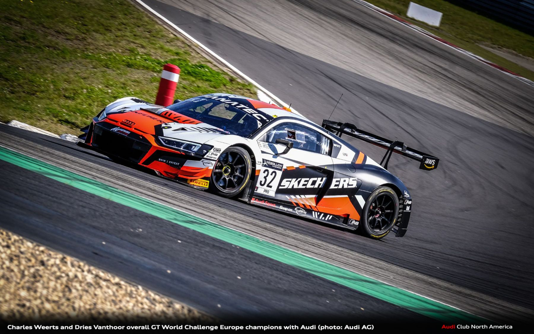 Charles Weerts and Dries Vanthoor Overall GT World Challenge Europe Champions with Audi