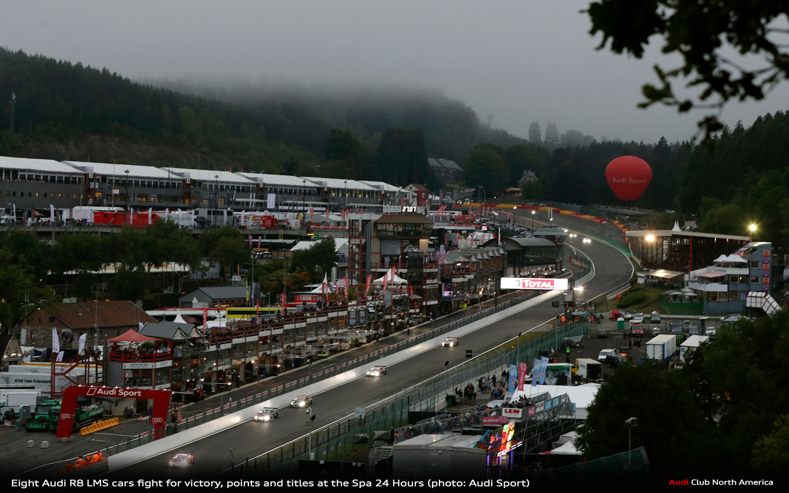 Eight Audi R8 LMS Cars Fight for Victory, Points and Titles at the Spa 24 Hours