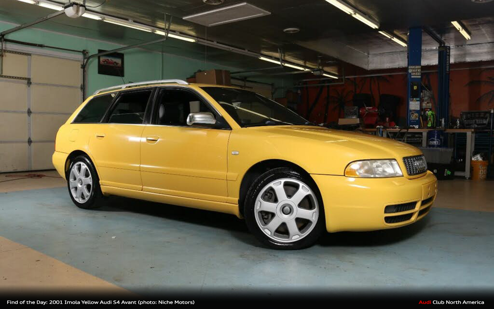 Find of the Day: 2001 Imola Yellow Audi S4 Avant