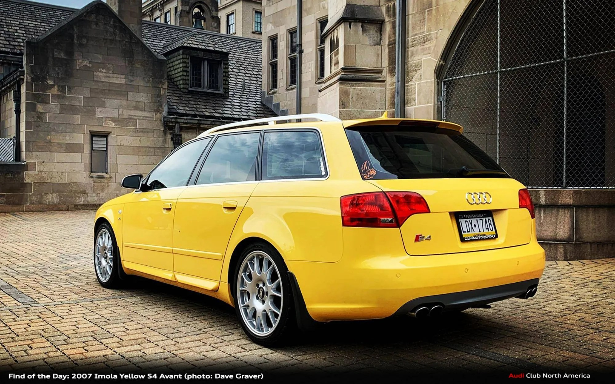 Find of the Day: 2007 Imola Yellow S4 Avant