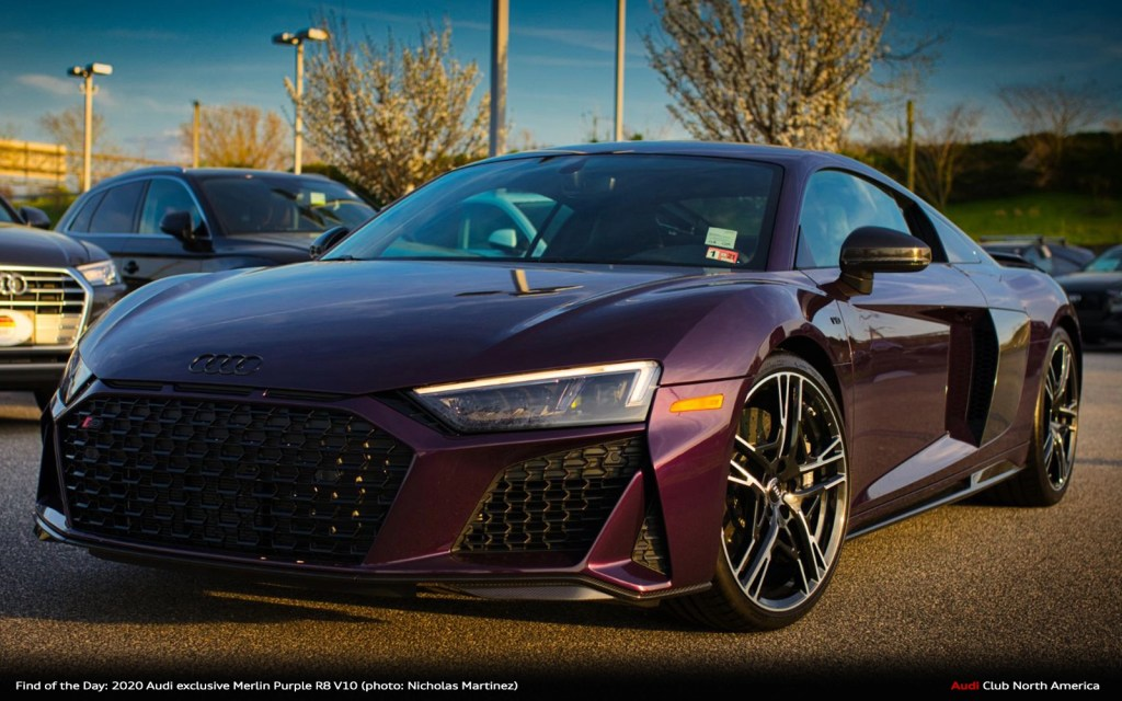 Find of the Day: 2020 Audi exclusive Merlin Purple R8 V10