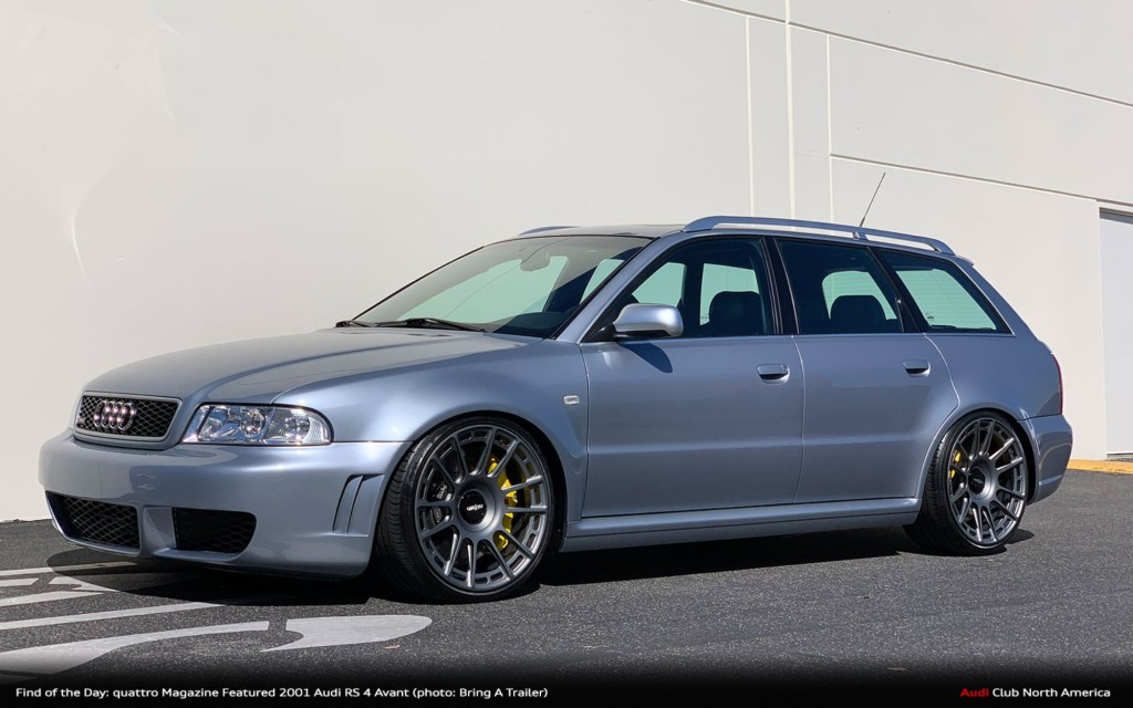 Find of the Day: 2001 Audi RS 4 Avant OEM+ Featured in Q2 2019 quattro Magazine