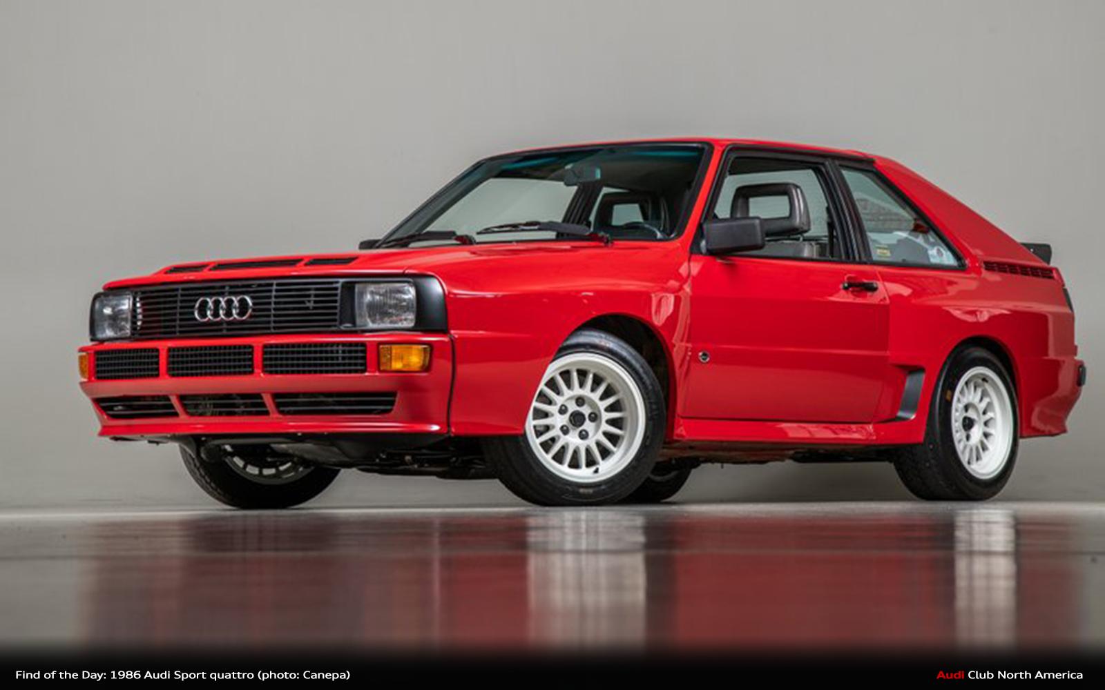 Audi Sport Quattro >> Find Of The Day 1986 Audi Sport Quattro Audi Club North