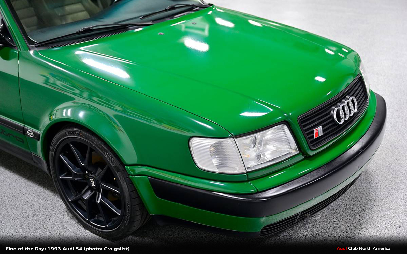 Find of the Day: 1993 Audi S4...a Very Green Audi S4