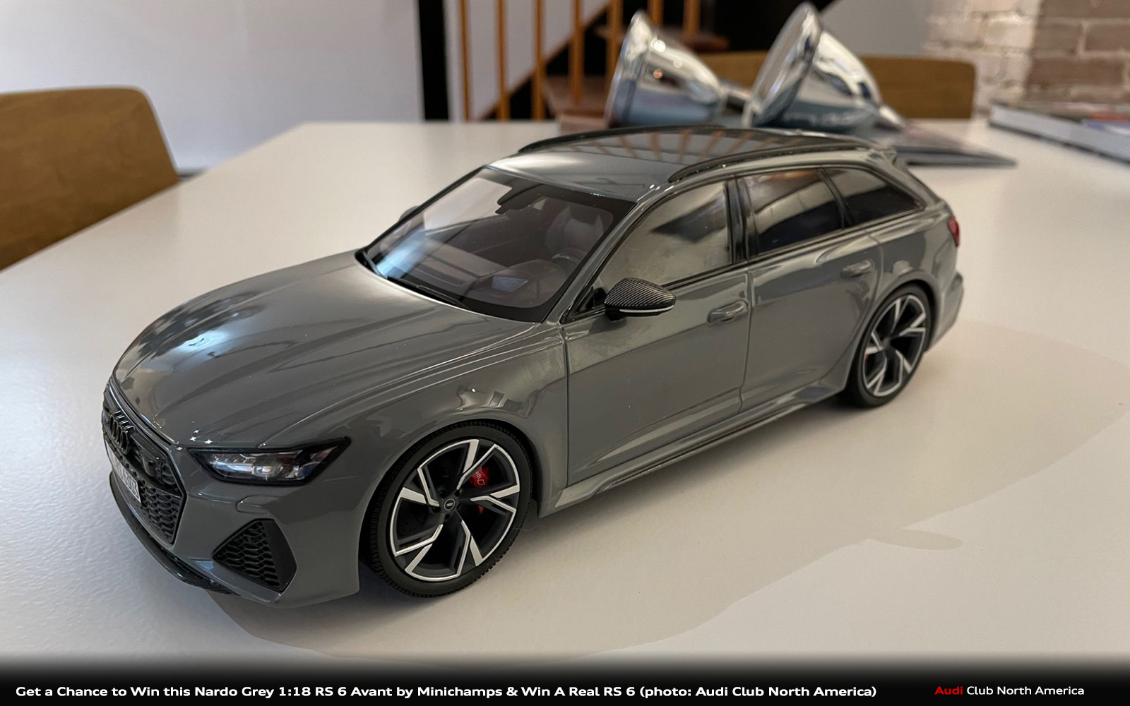 Get a Chance to Win This Nardo Grey 1:18 Scale Audi RS 6 Avant and a Real RS 6 Avant