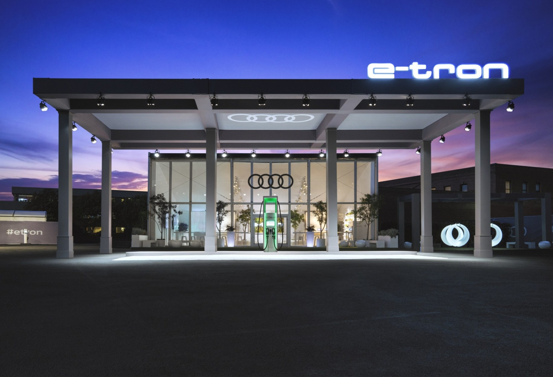 Audi Envisions A Charging Station For The Electric Era, Celebrating The New All-Electric Audi e-tron SUV In San Francisco