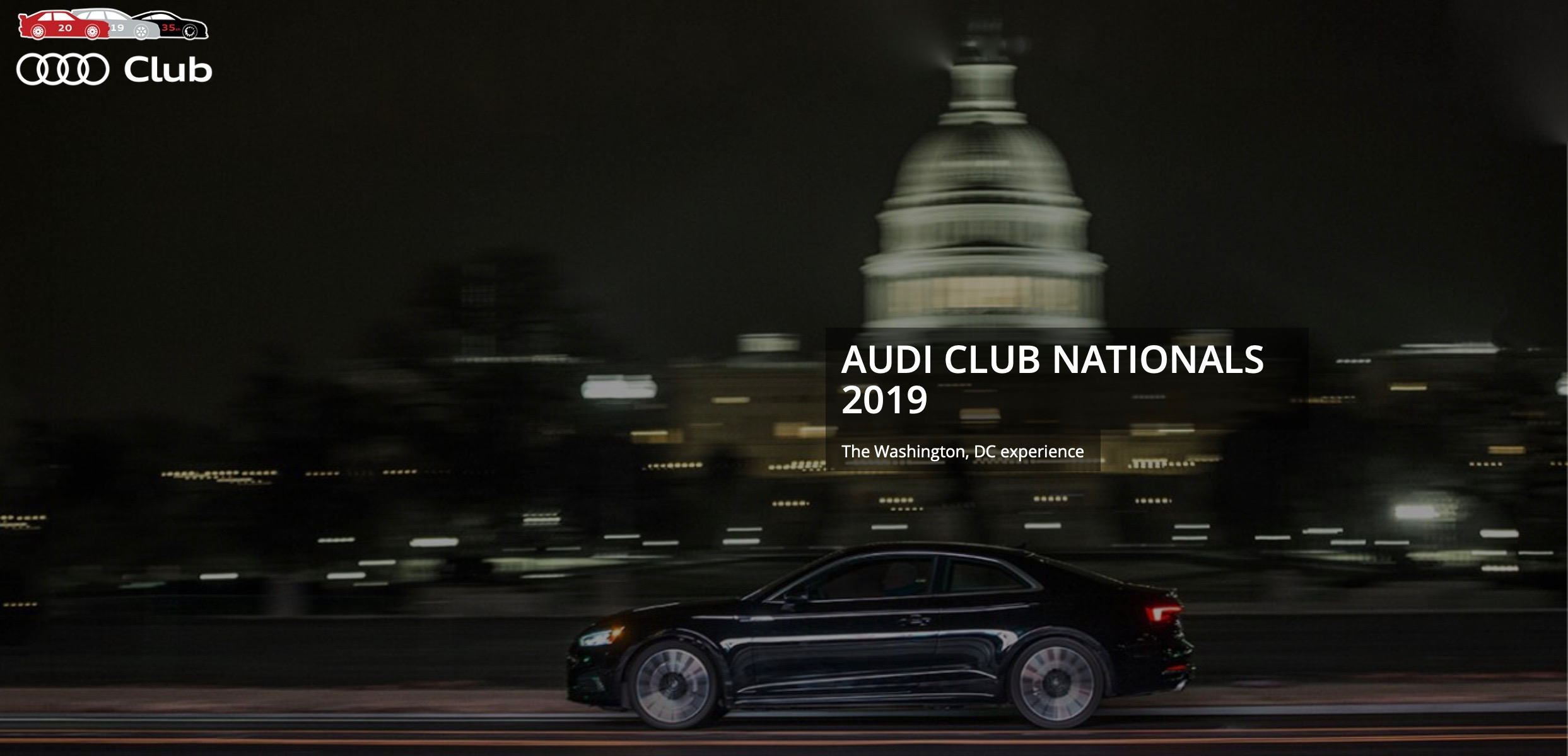 7692f1745d Audi Club North America 35th National Event We are close to launching….  Audi Club Nationals….. October 16-20, 2019