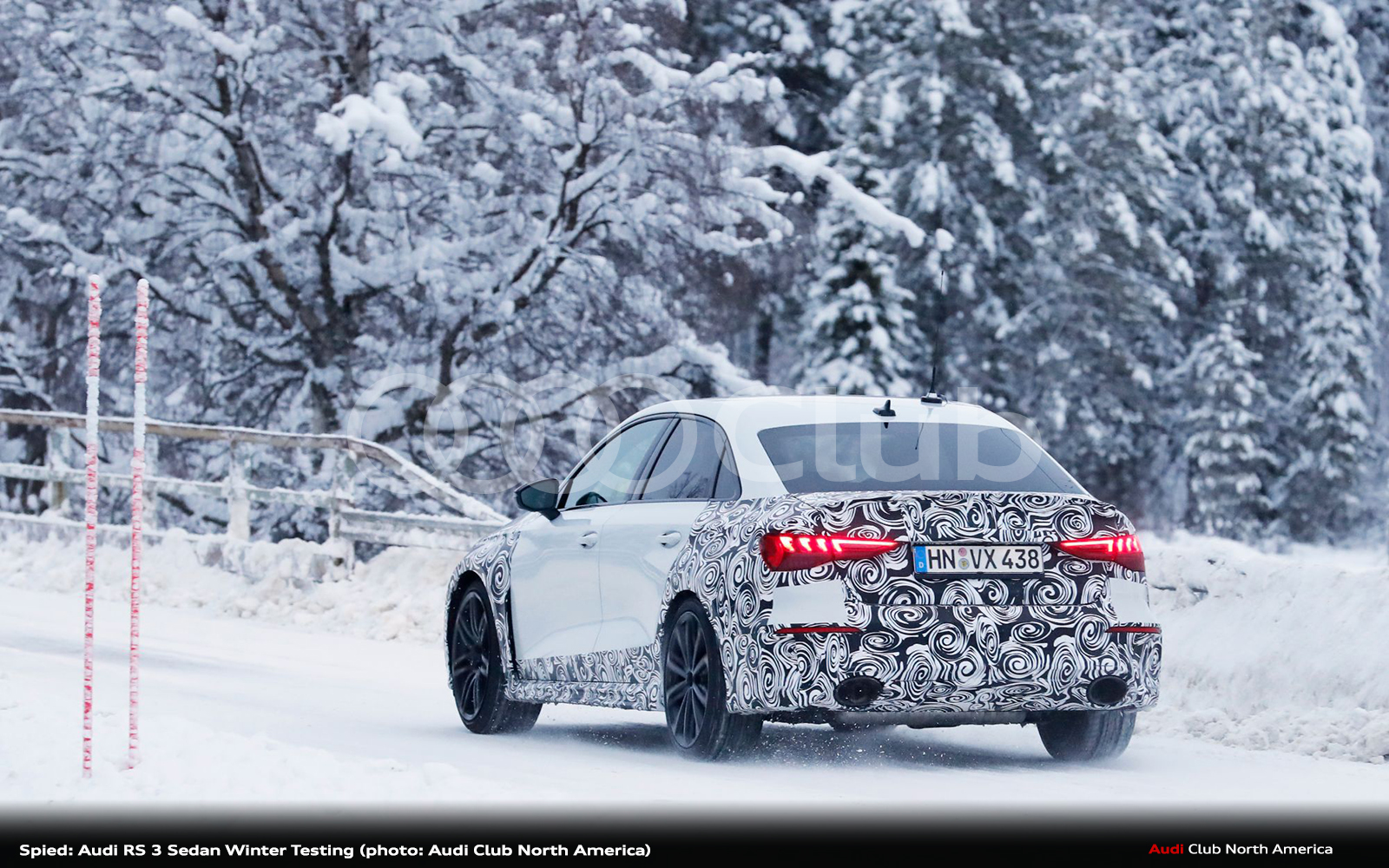 Spied: Audi RS 3 Sedan Winter Testing
