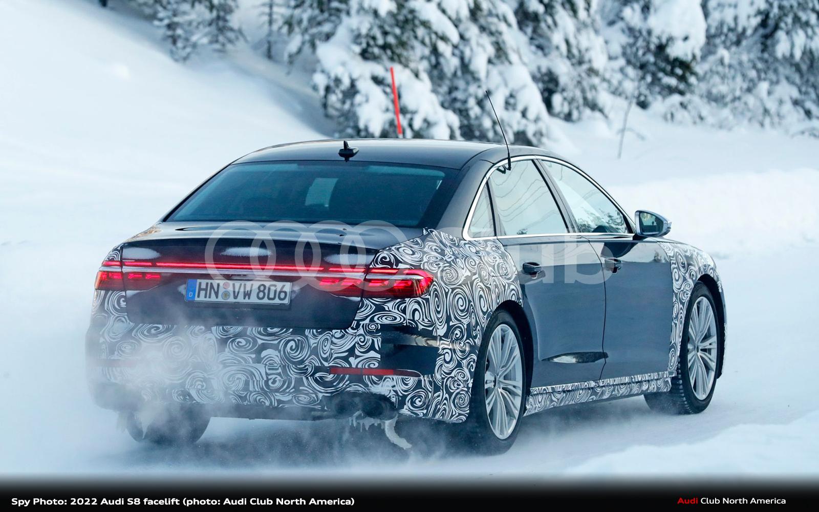 Spy Photo: 2022 Audi S8 Facelift