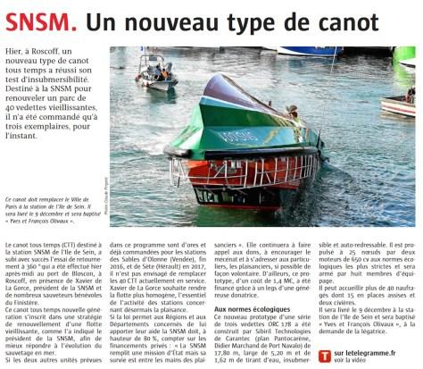 SNSM un nouveau type de canot
