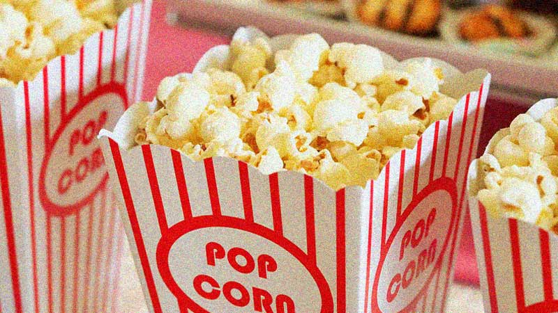 Boxes with popcorn
