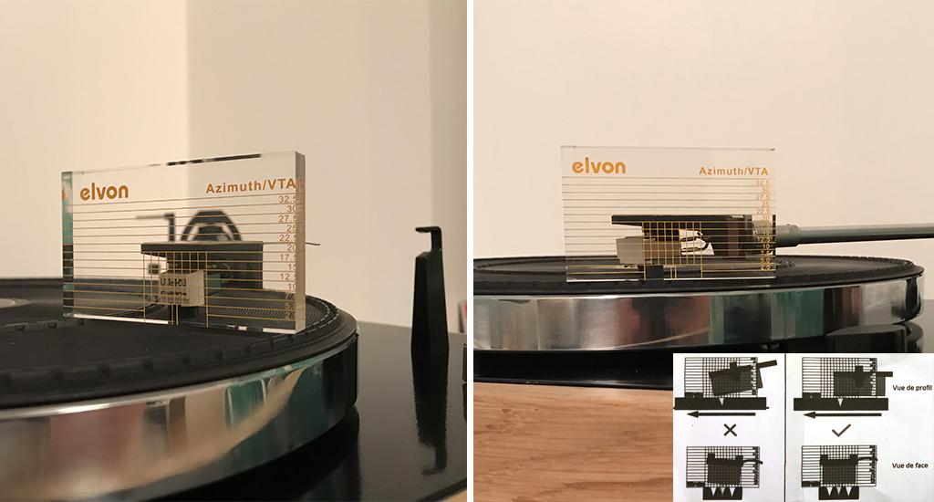 reglage d une platine vinyle audio