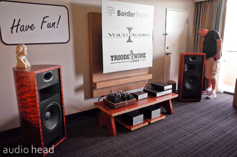 The Volti Audio Rival Special Edition, BorderPatrol and Triode Wire Labs at the Florida Audio Show.