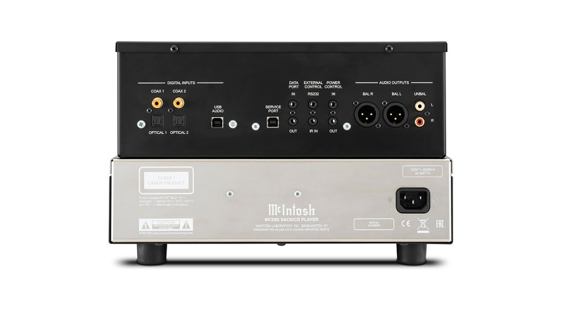 McIntosh MCD85 SACD/CD Player back panel