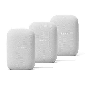 Google Nest Audio Chalk 3-pack