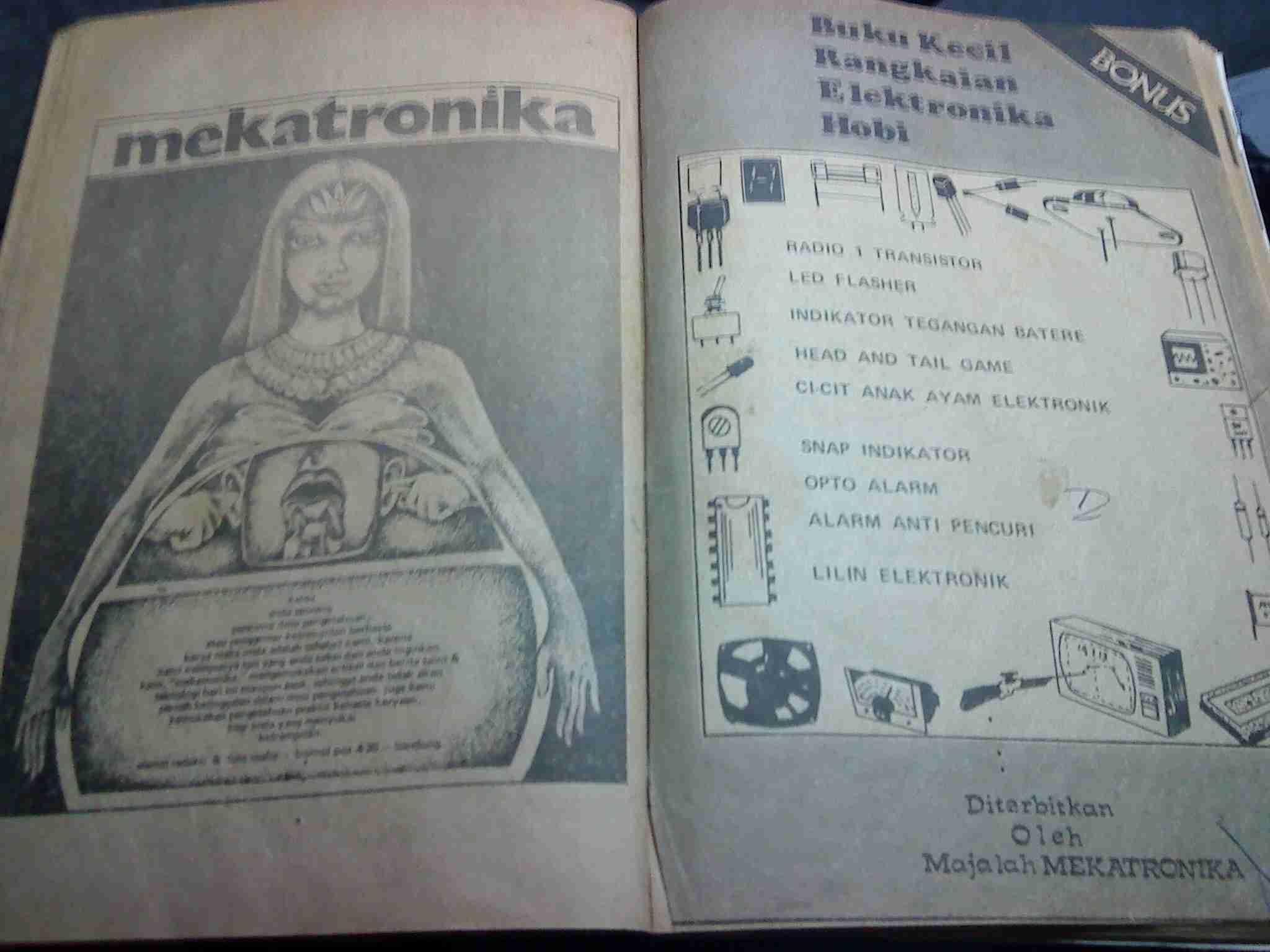 Bundel bonus Mekatronika, majalah elektronika jadul