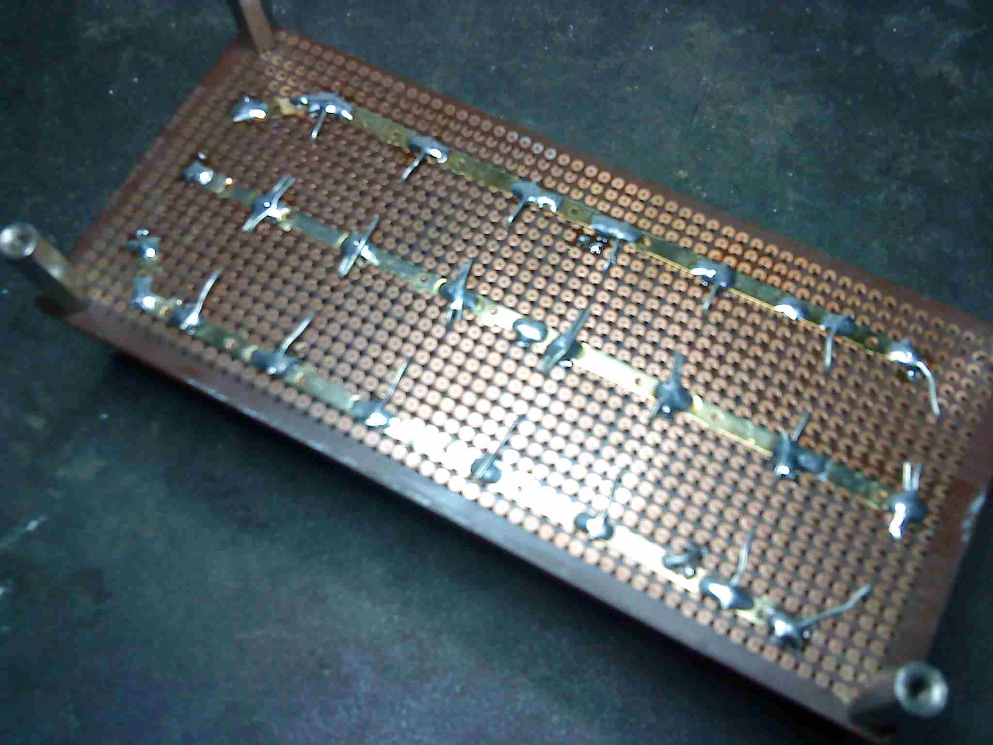 Standar PCB for mounting and metal plate (gold plated) for connecting all elco's.