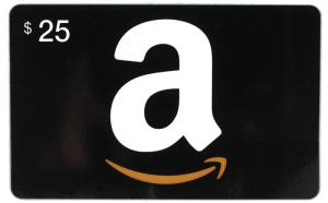 Prize: $25 Amazon Gift Card