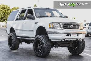 1998 Ford Expedition RBP Wheels Glock Gloss Black Milled Accents with 10