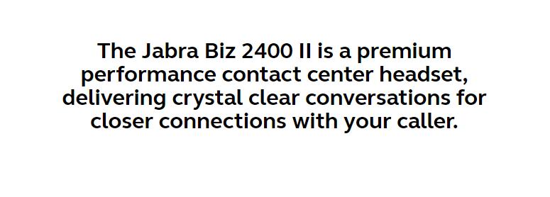 Jabra Biz 2400 II Duo, Mic. 82 NC, QD, MS 1