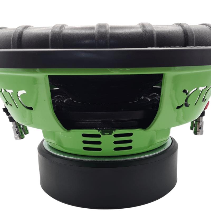 12'' XTC SUBWOOFER GREEN HORNET DVC 8000W 3