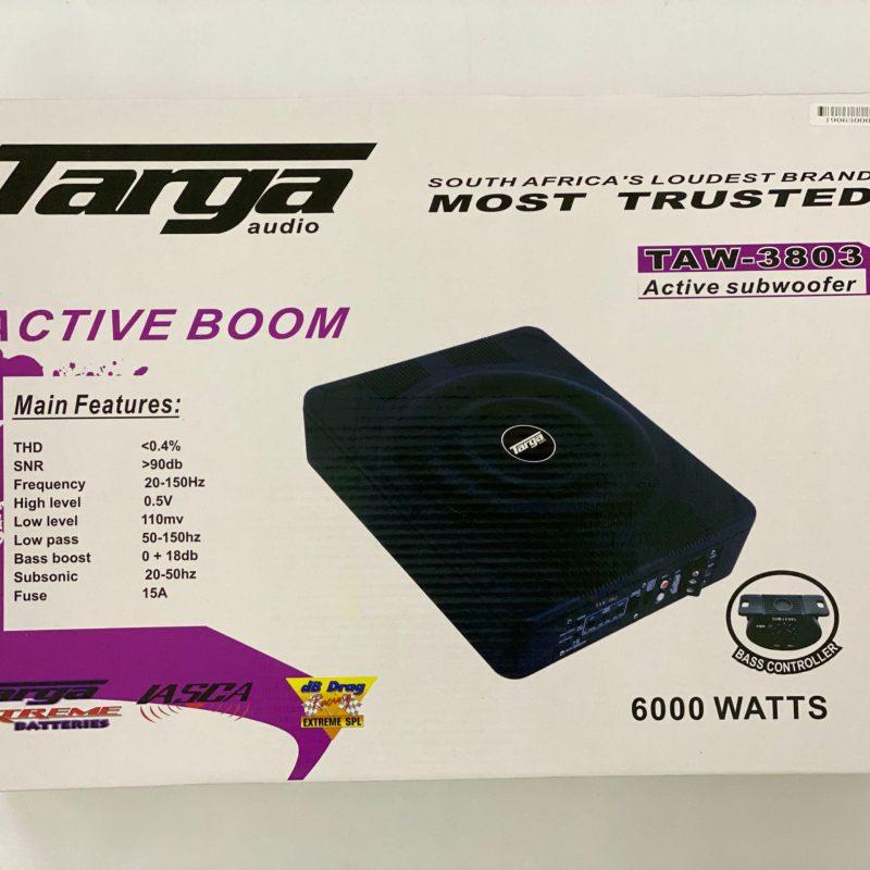10'' TARGA ACTIVE SUB+AMP 6000W TAW3803 8