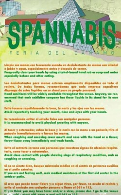 Due to global concern, Spannabis organizers head to their social media accounts to clear the air. They issue tips & warnings to patrons attending this years event via Instagram's story feature.
