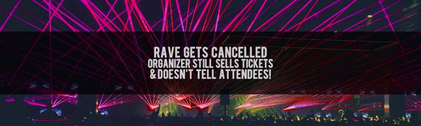 Apparently it is becoming a thing for rave organizers to continue selling tickets during the Covid-19 outbreak.