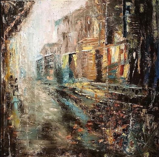Imagined Paris © Mariam Qureshi Oil on canvas Used with permission.