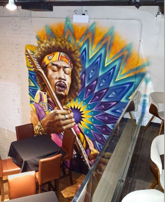 Jimi Hendrix Mural. The Needle Tavern 2016