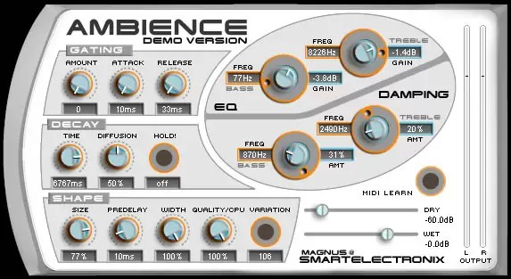 Ambience (Free Reverb VST) Review - Audio Ordeal