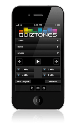 Quiztones - treinamento auditivo no iPhone  1