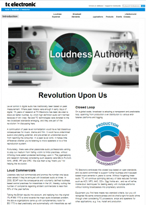 TC eletronics lança site sobre Loudness 1