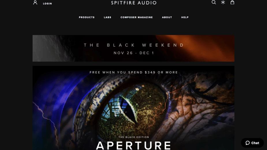 Spitfire Audio Black Friday Deals