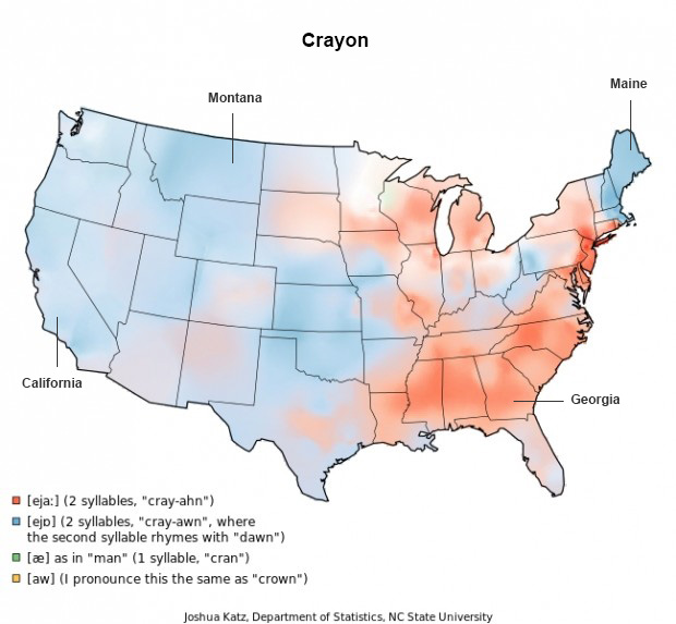 Crayon - Words Pronounced Differently - Audio Transcription Center Blog