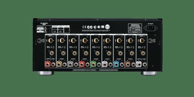 PA-MC5501 amp back Onkyo