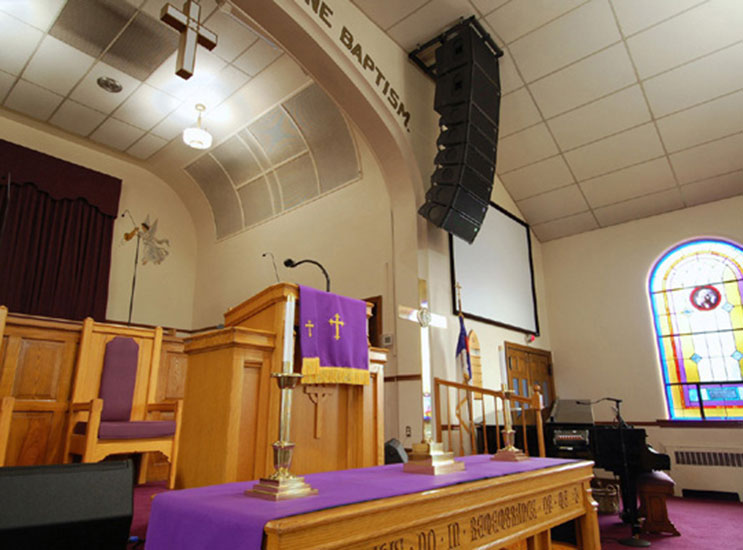 Mount Zion Baptist Church Sound System And Projection