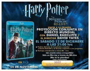 Evento virtual Harry Potter y El Misterio del Príncipe