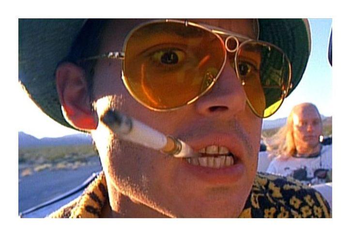 Johnny Deep en el film Miedo y asco en Las Vegas (1998)